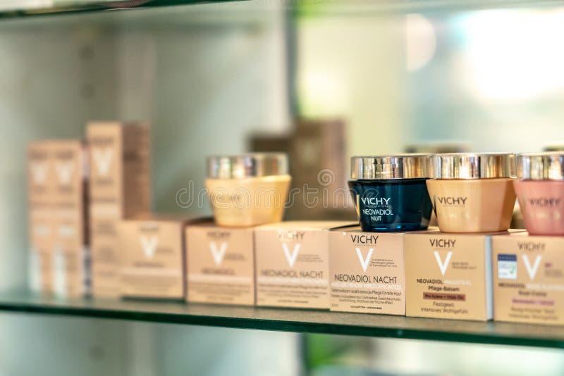 Προϊόντα Vichy skincare στοκ φωτογραφία με δικαίωμα ελεύθερης χρήσης