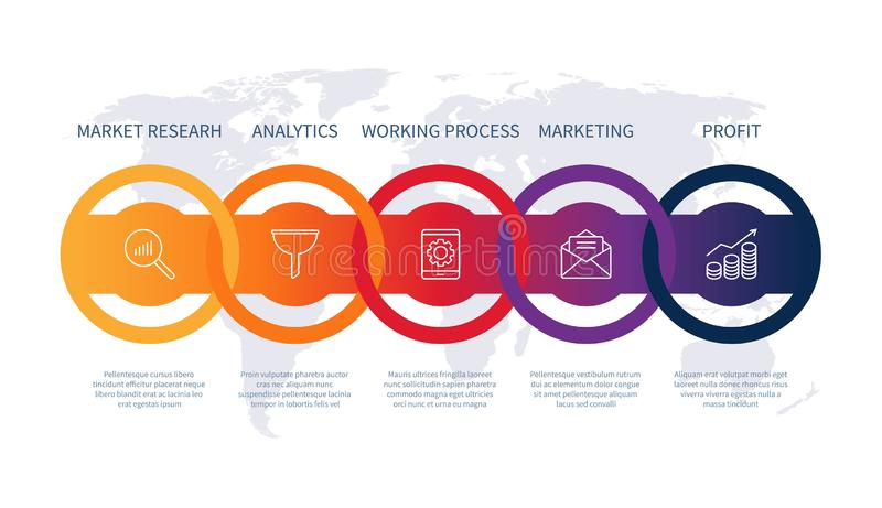 Προϊόντων διαγραμμάτων σχεδιαστικών στοιχείων ανάπτυξης επιχειρησιακής infographic υπόδειξης ως προς το χρόνο απεικόνισης διάγραμ διανυσματική απεικόνιση