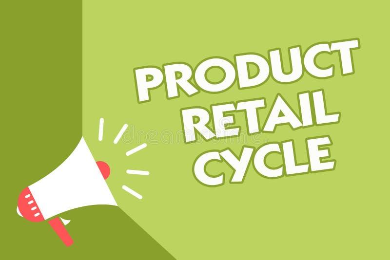 Προϊόν κειμένων γραψίματος λέξης λιανικός κύκλος Η επιχειρησιακή έννοια για ως εμπορικό σήμα προχωρεί μέσω της ακολουθίας γραφείο διανυσματική απεικόνιση