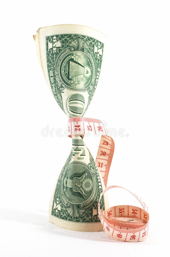 προϋπολογίζοντας τα χρήματα σφιχτά όρθια στοκ φωτογραφίες