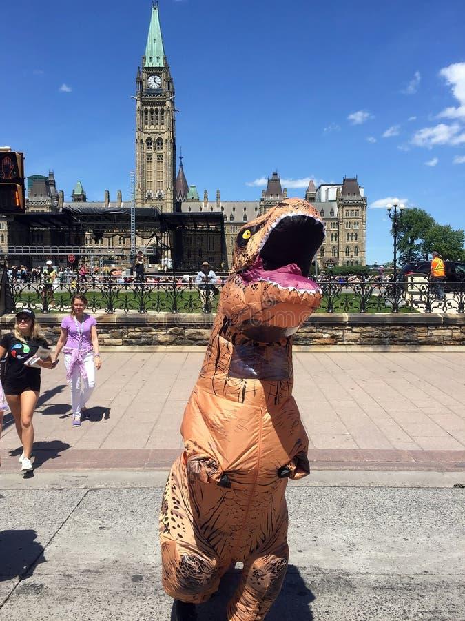 Προώθηση δεινοσαύρων exhiibit στην Οττάβα στοκ εικόνες με δικαίωμα ελεύθερης χρήσης