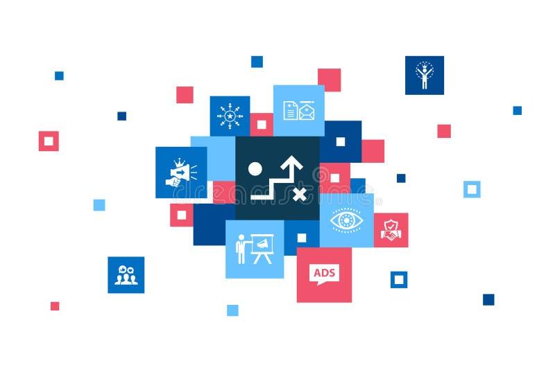 Προώθηση της μάρκας Infographic 10 βήματα ελεύθερη απεικόνιση δικαιώματος