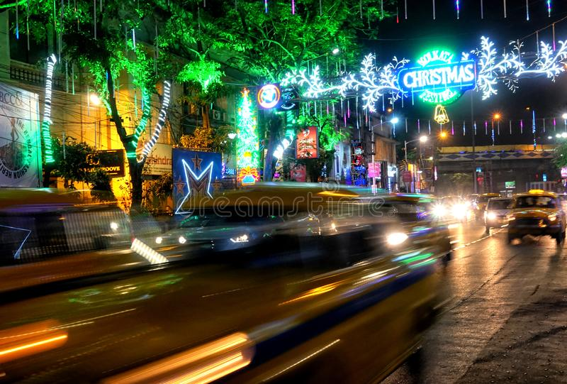 Προ εορτασμός Χριστουγέννων σε Kolkata, Ινδία στοκ εικόνες