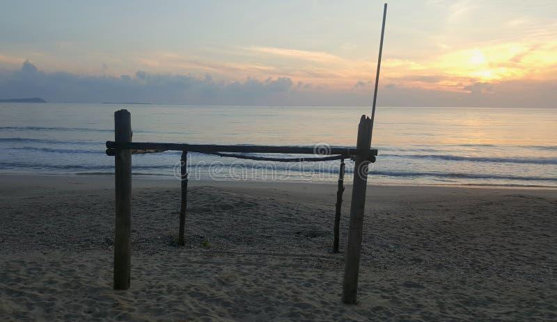 Πρωί η παραλία στοκ εικόνες με δικαίωμα ελεύθερης χρήσης