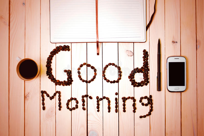 πρωί καφέ έτοιμος να εργαστεί στοκ φωτογραφίες με δικαίωμα ελεύθερης χρήσης