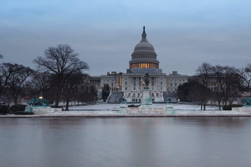 Πρωί Ουάσιγκτον DC αμερικανικού Capitol χειμώνα στοκ εικόνες
