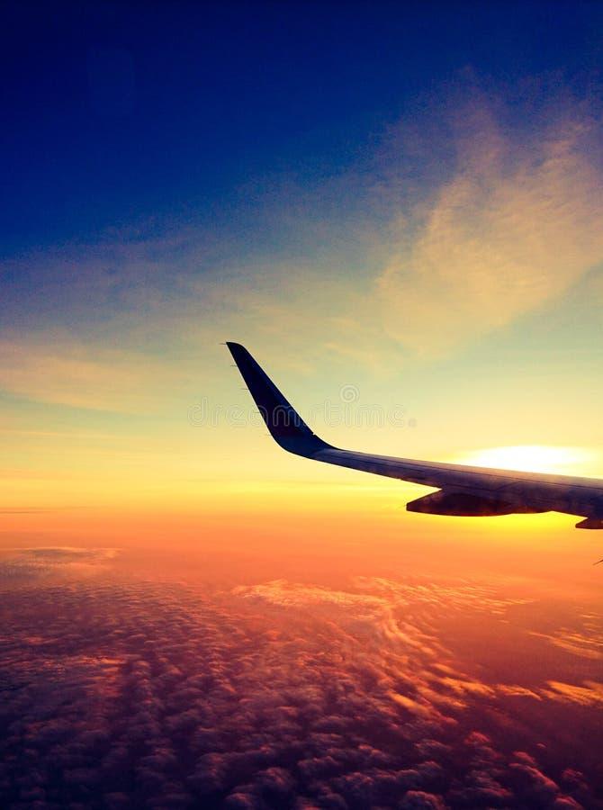 Πρωί στο αεροπλάνο στοκ εικόνες