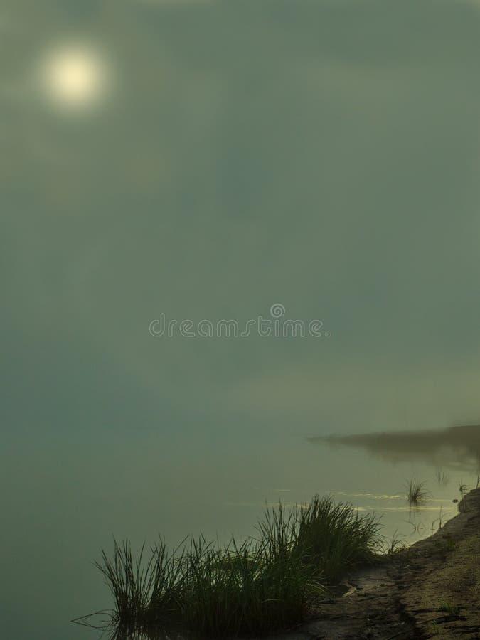 Πρωί της Misty στον ποταμό στοκ εικόνα με δικαίωμα ελεύθερης χρήσης