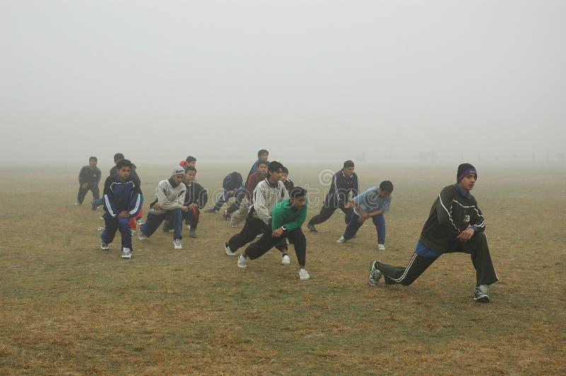 πρωί kolkata ομίχλης στοκ εικόνα