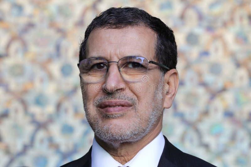 Πρωθυπουργός του Μαρόκου Saadeddine Othmani στοκ φωτογραφία με δικαίωμα ελεύθερης χρήσης