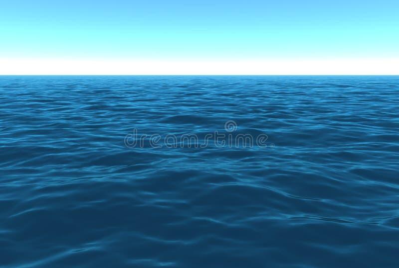 πρωινός ωκεάνιος φυσικό&sigmaf διανυσματική απεικόνιση