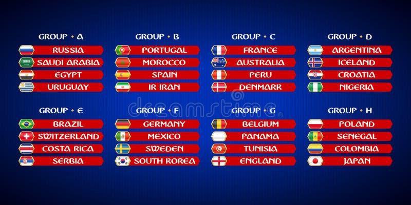 Πρωτάθλημα Παγκόσμιου Κυπέλλου ποδοσφαίρου διανυσματική απεικόνιση