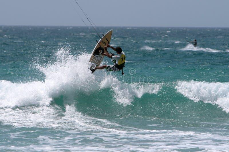 πρωτάθλημα kitesurf kitesurfer Ισπανία στοκ εικόνες με δικαίωμα ελεύθερης χρήσης