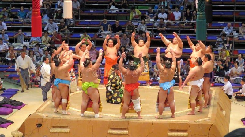 Πρωταθλήματα σούμο στο Νάγκουα στοκ εικόνα