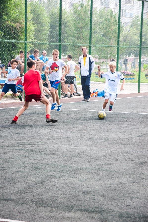 Πρωταθλήματα στο μίνι-ποδόσφαιρο στοκ εικόνες