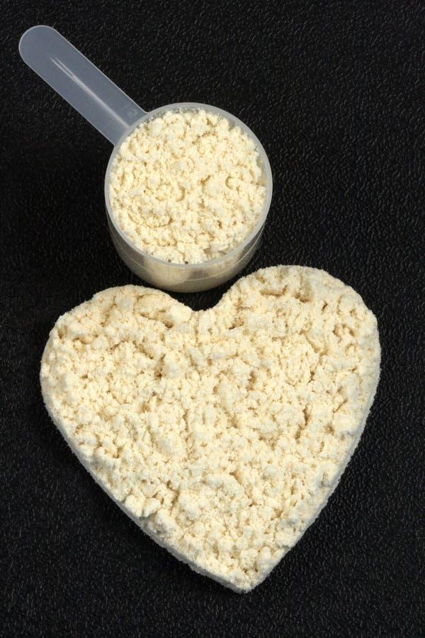 πρωτεΐνη ισχύος σκονών καρ στοκ φωτογραφία με δικαίωμα ελεύθερης χρήσης