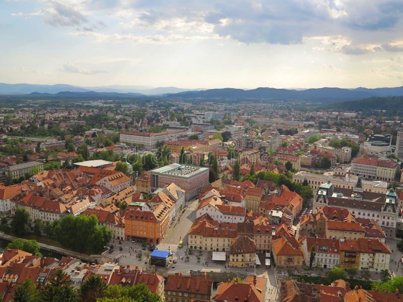 Πρωτεύουσα Λουμπλιάνα στη Σλοβενία στοκ φωτογραφίες