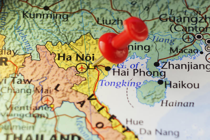 Πρωτεύουσα του Ανόι του Βιετνάμ στοκ εικόνα