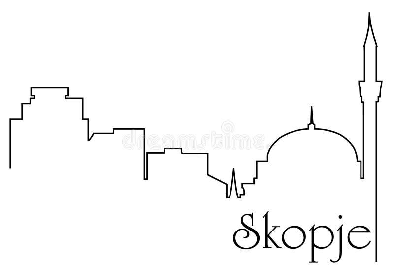 Πρωτεύουσα των Σκόπια ελεύθερη απεικόνιση δικαιώματος