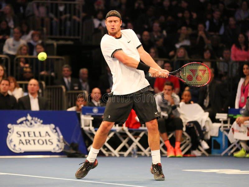Πρωτοπόρος Lleyton Hewitt του Grand Slam της Αυστραλίας στη δράση κατά τη διάρκεια του 10ου γεγονότος αντισφαίρισης επετείου της  στοκ φωτογραφία με δικαίωμα ελεύθερης χρήσης