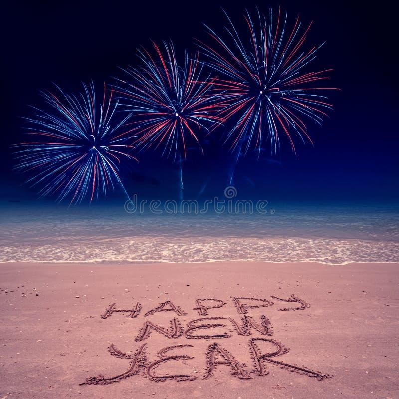Πρωτοχρονιάτικο παρασκήνιο με πυροτεχνήματα στοκ φωτογραφία