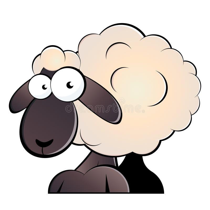 πρόβατα κινούμενων σχεδίω&n διανυσματική απεικόνιση