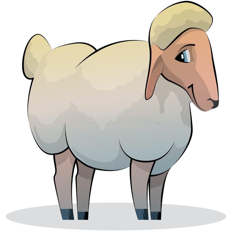 Πρόβατα κινούμενων σχεδίων στοκ εικόνες με δικαίωμα ελεύθερης χρήσης