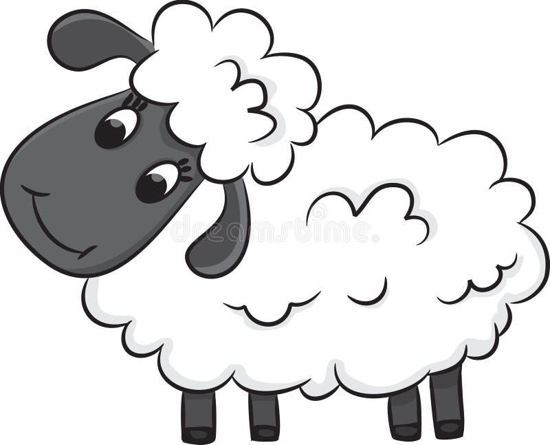 Πρόβατα κινούμενων σχεδίων ελεύθερη απεικόνιση δικαιώματος