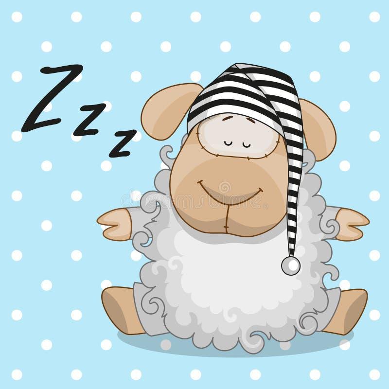 Πρόβατα ύπνου διανυσματική απεικόνιση