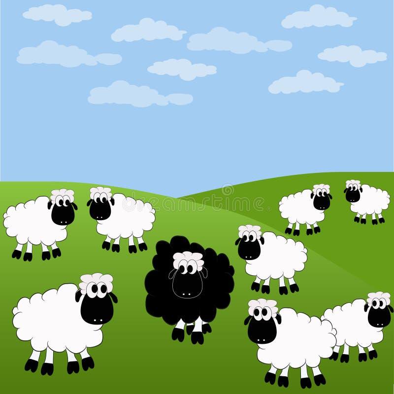 πρόβατα διανυσματική απεικόνιση