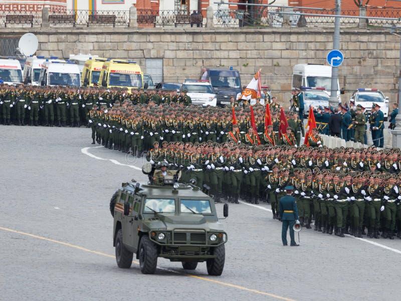 Πρόβα για τη στρατιωτική παρέλαση της νίκης, Μόσχα στοκ εικόνες