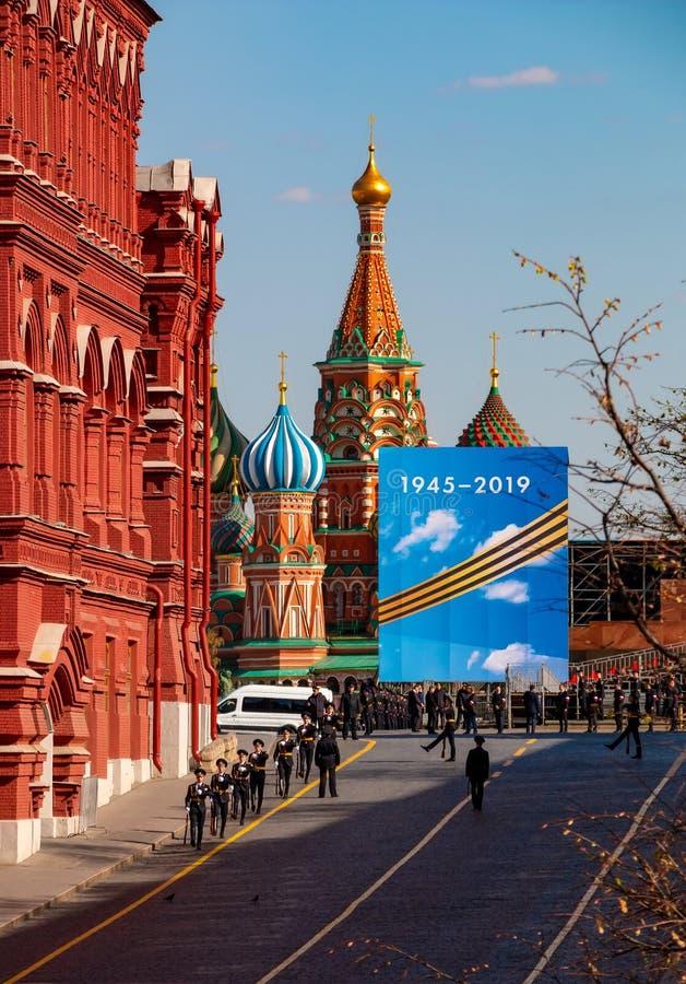 Πρόβα παρελάσεων ημέρας νίκης στη Μόσχα, Ρωσία στοκ φωτογραφίες