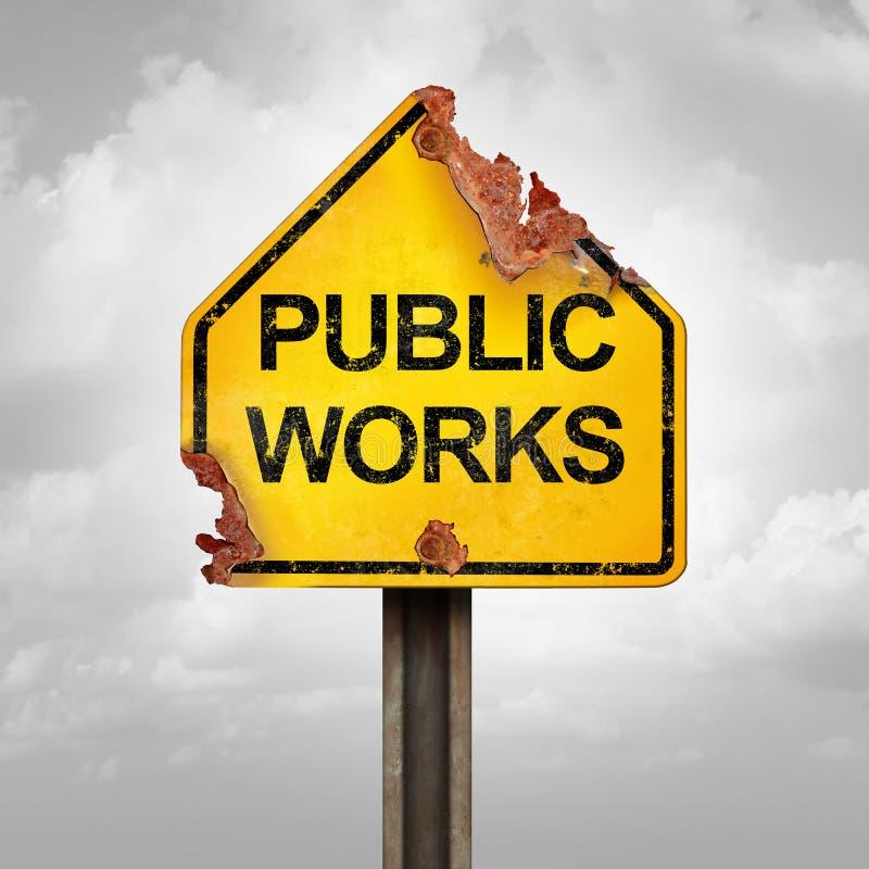 Πρόβλημα δημόσιων έργων απεικόνιση αποθεμάτων
