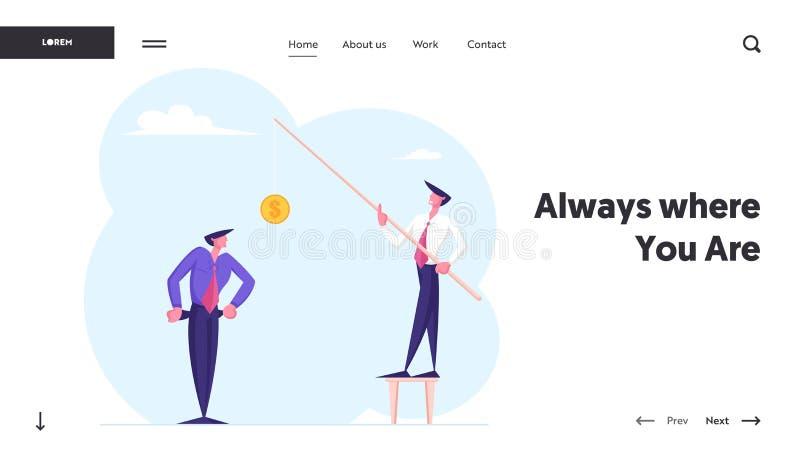 Πρόβλημα χρημάτων, σελίδα έναρξης οικονομικής προβληματικής τοποθεσίας Web Καταθλιπτικός επιχειρηματίας σε ανάγκη δείχνει άδειες  ελεύθερη απεικόνιση δικαιώματος