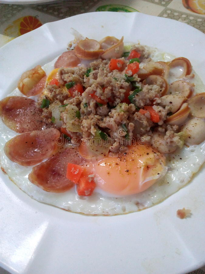 Πρόγευμα αυγών στοκ εικόνες