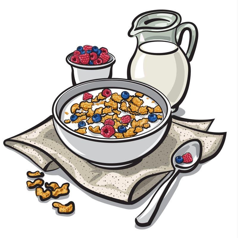 Πρόγευμα δημητριακών απεικόνιση αποθεμάτων