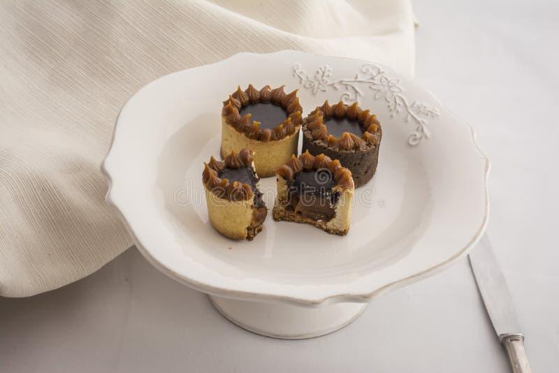 Πρόγευμα Υ dulce de leche σοκολάτας στοκ εικόνες