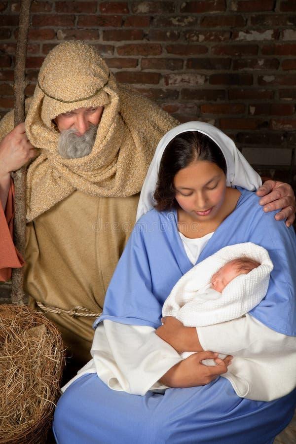 πρόγονοι nativity στοκ φωτογραφίες με δικαίωμα ελεύθερης χρήσης