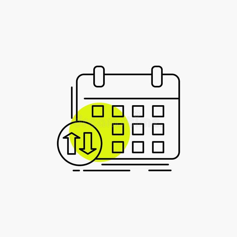 πρόγραμμα, κατηγορίες, χρονοδιάγραμμα, διορισμός, εικονίδιο γραμμών γεγονότος διανυσματική απεικόνιση