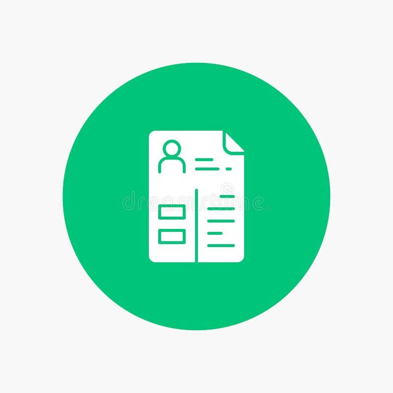 Πρόγραμμα σπουδών, βιογραφικό σημείωμα, εργασία, χαρτοφυλάκιο απεικόνιση αποθεμάτων
