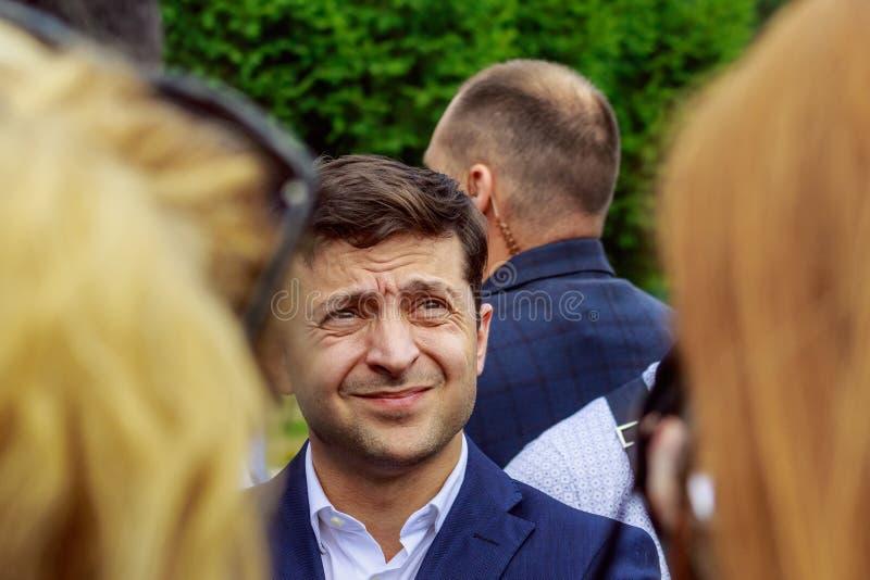 Πρόεδρος της Ουκρανίας Volodymyr επισκεμμένο Zelenskyy Uzhgorod στοκ εικόνες με δικαίωμα ελεύθερης χρήσης