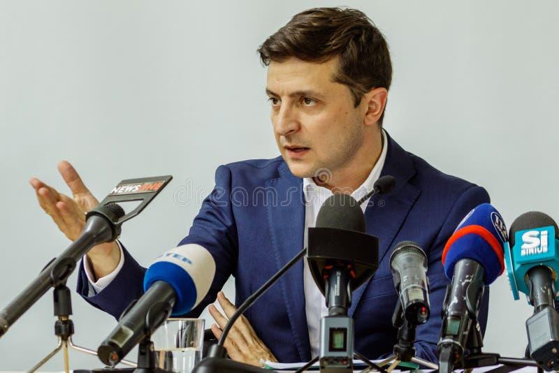 Πρόεδρος της Ουκρανίας Volodymyr επισκεμμένο Zelenskyy Uzhgorod στοκ εικόνα με δικαίωμα ελεύθερης χρήσης
