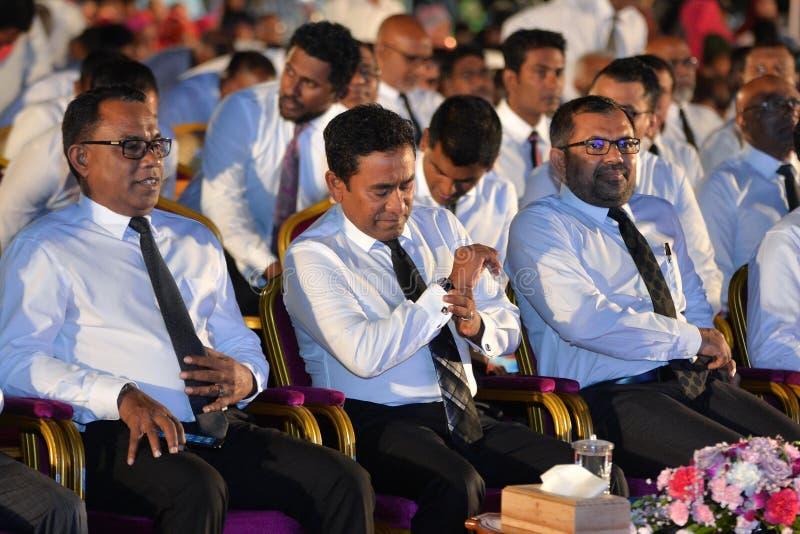 Πρόεδρος Malidve Yaameen Abdul Gayyoom στοκ φωτογραφίες με δικαίωμα ελεύθερης χρήσης