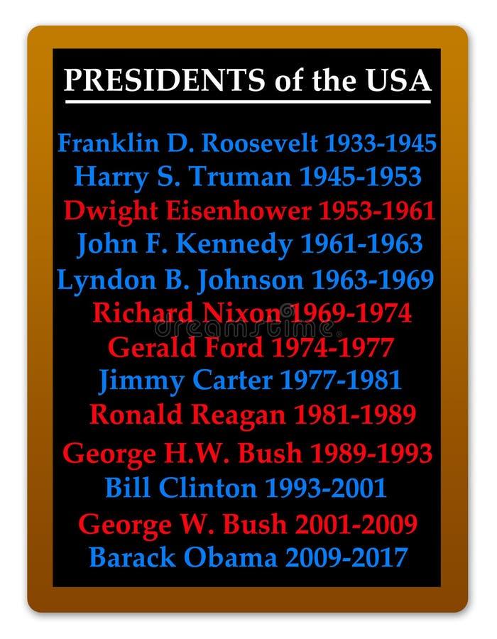 Πρόεδροι USA στοκ εικόνες