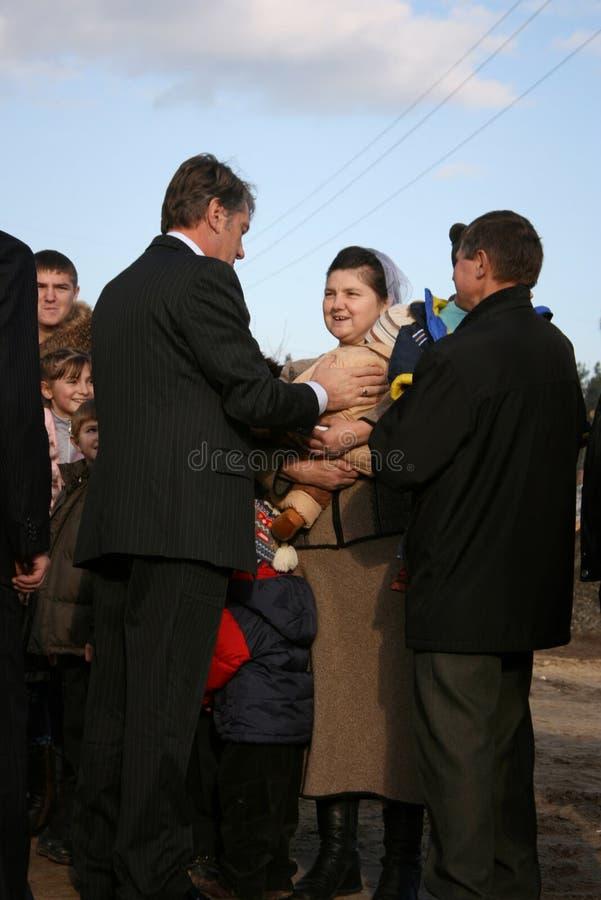 Πρόεδρος της Ουκρανίας Βίκτωρ Γιούσενκο στοκ φωτογραφίες με δικαίωμα ελεύθερης χρήσης