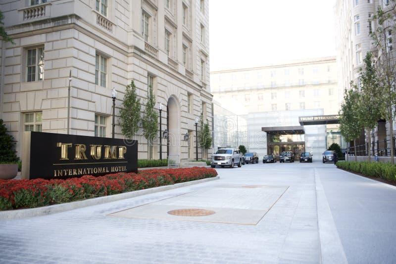 Πρόεδρος Elect Donald J Trump διεθνές ξενοδοχείο στοκ εικόνα