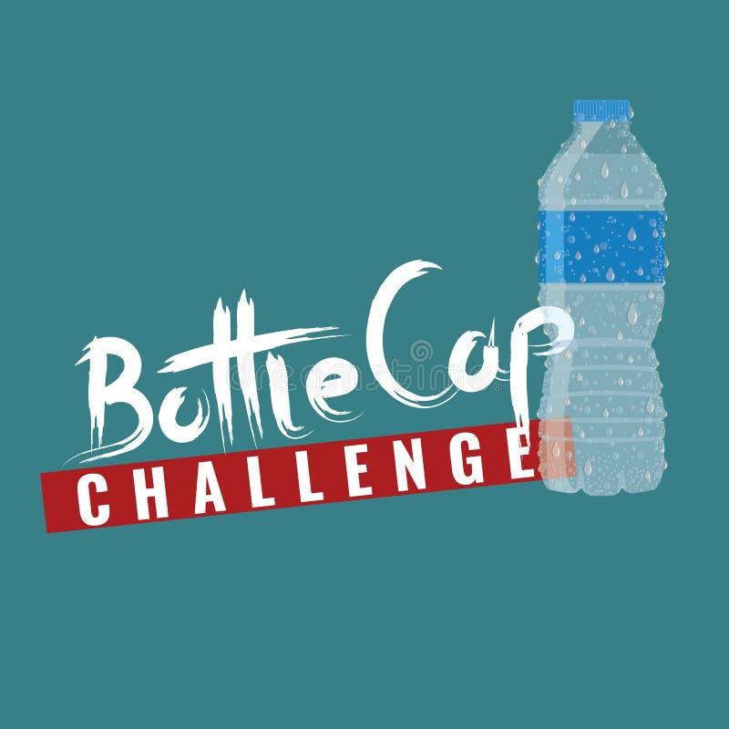 Πρόκληση ΚΑΠ μπουκαλιών Κείμενο ΚΑΠ μπουκαλιών για το σχέδιο μπλουζών σας r ελεύθερη απεικόνιση δικαιώματος