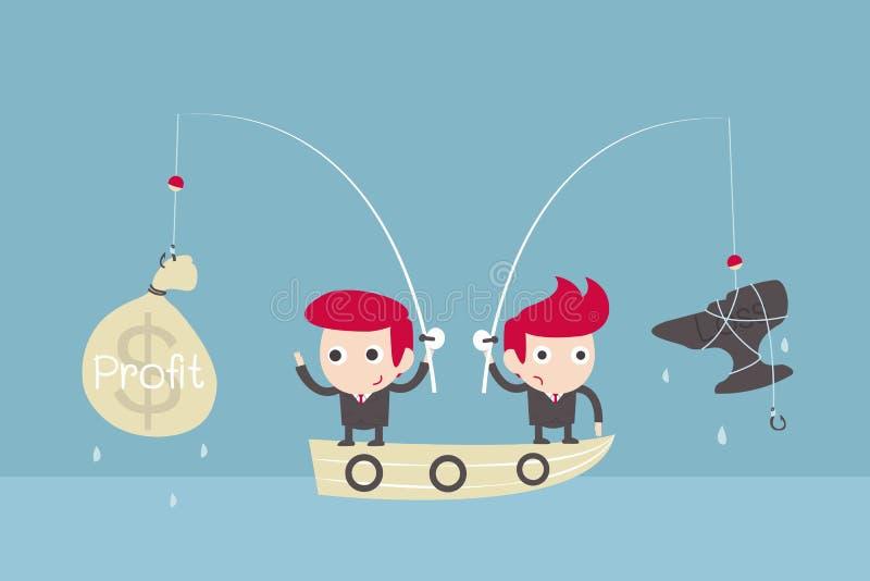 Αλιεία πρόκλησης επιχειρηματιών. διανυσματική απεικόνιση