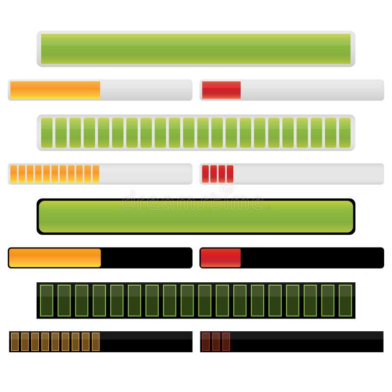 πρόοδος ράβδων διανυσματική απεικόνιση