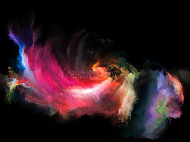 Πρόοδος της κίνησης χρώματος διανυσματική απεικόνιση